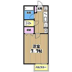 東京都八王子市中野上町1丁目の賃貸アパートの間取り