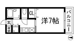 ケイズキューブ[3階]の間取り
