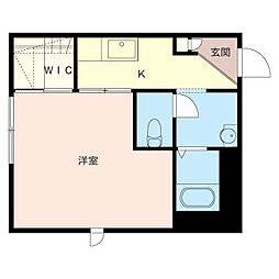 ブルーミング[1階]の間取り