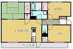 ミーテソシア[3階]の間取り