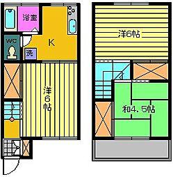 第二ブリッジホース[017号室]の間取り