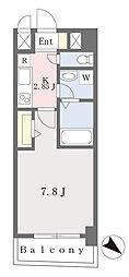 ブラン東光 8階1Kの間取り