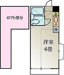 パークアベニューフィフス 2階ワンルームの間取り