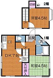 東京都荒川区東尾久1丁目の賃貸アパートの間取り