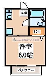 ソレイユ阪奈[2階]の間取り