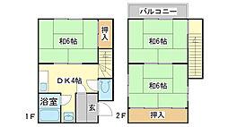 [一戸建] 兵庫県姫路市大塩町 の賃貸【/】の間取り