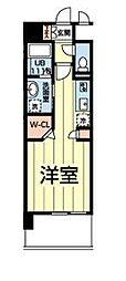 熊本電気鉄道 北熊本駅 徒歩5分の賃貸マンション 3階ワンルームの間取り