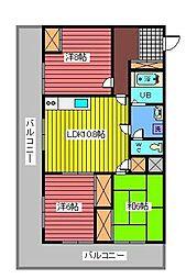 レジデンス武蔵野[7階]の間取り