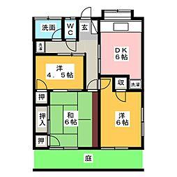 コーポ松永[1階]の間取り