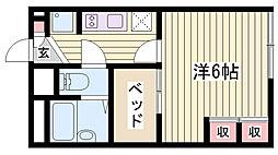 JR東海道・山陽本線 西明石駅 徒歩31分の賃貸アパート 1階1Kの間取り