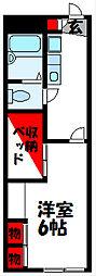 JR筑豊本線 飯塚駅 徒歩16分の賃貸アパート 1階1Kの間取り