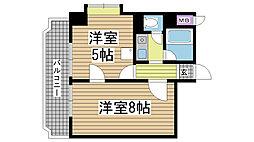 ロイヤル花隈[3階]の間取り