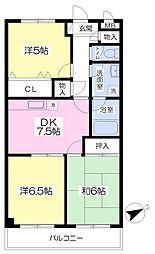 第2荒井ビル 3階3DKの間取り