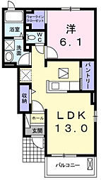 レジデンス別所[104号室]の間取り