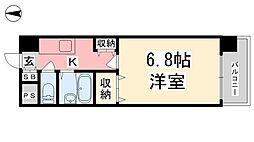 ジョイフル第3小坂[202号室]の間取り