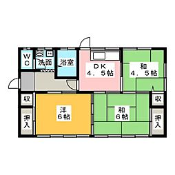 [一戸建] 茨城県水戸市吉沢町 の賃貸【茨城県/水戸市】の間取り
