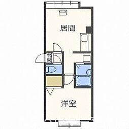 北海道札幌市豊平区福住一条7丁目の賃貸アパートの間取り