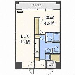 カマール6−6[6階]の間取り