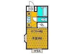 タプロコート[2階]の間取り