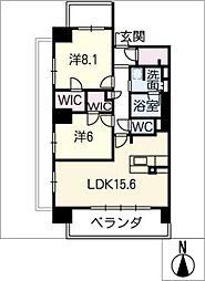 ロイヤルパークスERささしま(南棟)[7階]の間取り