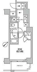 スパシエグランス横浜反町 4階1Kの間取り