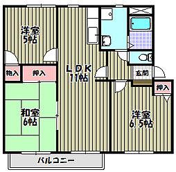 クレールプラザ B棟[2階]の間取り