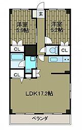 神奈川県相模原市南区相模大野3丁目の賃貸マンションの間取り