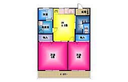 ロイヤルマンション柿田弐番館[1階]の間取り