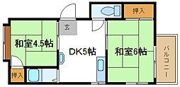 MYマンション[4階]の間取り
