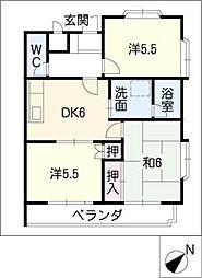 ソシアルN・S[2階]の間取り