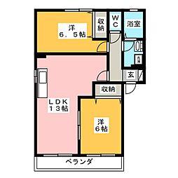 クレインN[2階]の間取り