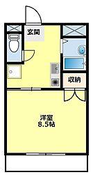 愛知県みよし市三好丘8丁目の賃貸マンションの間取り