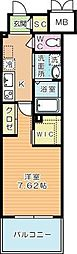 ウイングス西小倉[11階]の間取り
