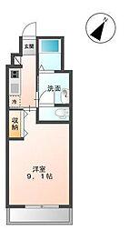 木更津市金田東5丁目新築アパート[203号室]の間取り