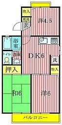 ロイヤルタウン泉CD[C101号室]の間取り