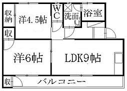 エクスト神田[306号室]の間取り