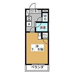 カームダウン喜多山[1階]の間取り
