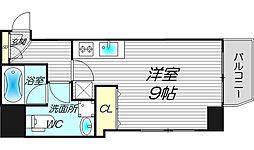 ライブコート北梅田[9階]の間取り