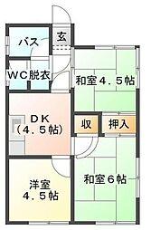 [一戸建] 千葉県袖ケ浦市神納 の賃貸【/】の間取り