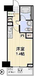 プロスペクト日本橋本町 7階ワンルームの間取り