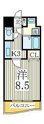 シャルム南流山弐番館[2階]の間取り
