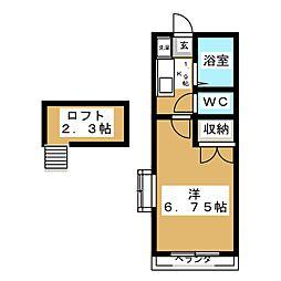 セラヴィ福室A[1階]の間取り
