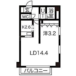 AMS東札幌24[9階]の間取り