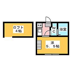 アザーレ・クオン生田 1階1Kの間取り