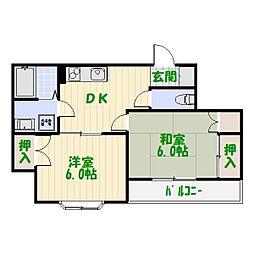 東京都葛飾区白鳥3丁目の賃貸アパートの間取り