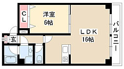 愛知県名古屋市南区道徳通3丁目の賃貸マンションの間取り