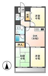 東京都小金井市東町5丁目の賃貸マンションの間取り