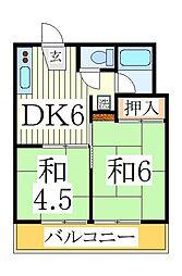 オネスティ柏12番館[3階]の間取り