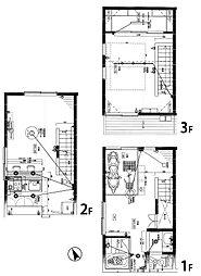 佃2丁目テラスハウス 1階2LDKの間取り