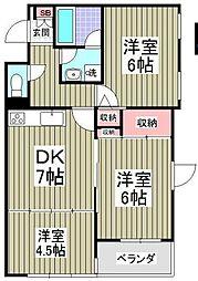 神奈川県横浜市戸塚区影取町の賃貸マンションの間取り